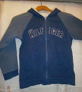 Tommy Hilfiger S/P Girls Blue & Gray Zip Up Hooded Sweatshirt w