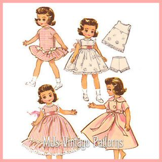 Doll Clothes Pattern 14 Betsy McCall, Toni ~ Dress, Nightgown, Robe