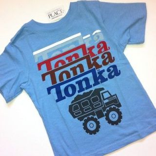 NEW! Tonka Truck Baby Boys Graphic Shirt 6 9 9 12 18 24 Months 2T