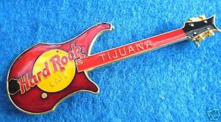TIJUANA MEXICO RED VIGIER NAUTLUIS BASS GUITAR Hard Rock Cafe PIN
