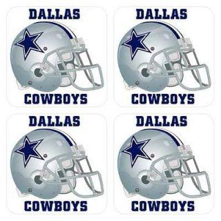 dallas cowboys helmet drinks coaster mat set of 4 pcs