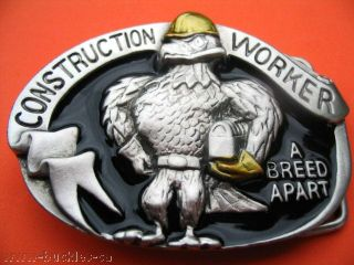 CONSTRUCTION WORKER UNION EAGLE TOOL BOX BELT BUCKLES BOUCLE DE