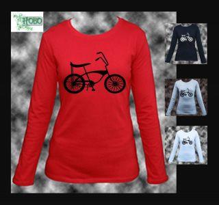Dragster Bike Bicycle Hobo Designs long sleeve women top t shirt