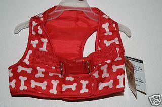 Medium LuLu Pink Dog Body Harness Red Bone M 14 15 Beagle Dachshund