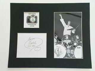 Limited Edition Keith Moon Signed Mount Display MUSIC AUTOGRAPH THE