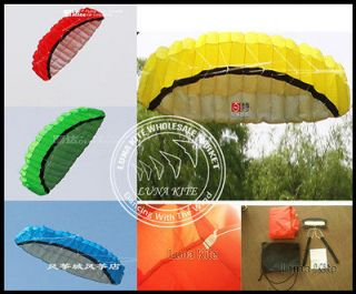 New 2.5m Dual line parafoil Kite 2 Line Sport Kite+Line+Belt