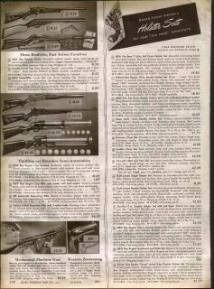 1954 AD Roy Rogers Toy Rifles Cap Gun Carbine Pop Gun Machine