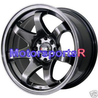 522 Chromium Black Concave Rims Wheels 84 85 Toyota Celica GTS 5MGE