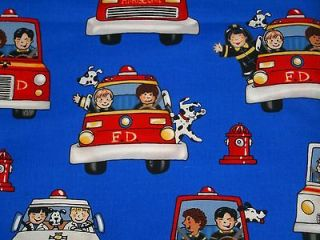 Retro Fireman Firemen Childrens Kids Fire Truck Engine Boys Cotton