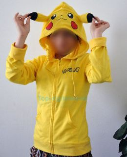 New Japan Anime Kigurumi Pokemon Cosplay Pikachu Hoody Sweater Hoodie