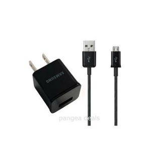 GALAXY S II III S2 S3 TRAVEL CHARGER ADAPTER W/ MICRO USB CABLE