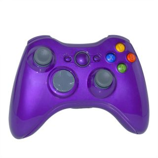 Custom Wireless Controller Shell Case Kit for XBOX 360 Violet Tuning