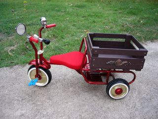 Vintage Tricycle Metal Steel Vintage Kid Bike Red