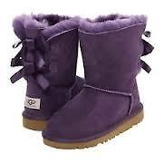 UGG @AUSTRALIA KIDS BAILEY BUTTON BOW 3280 K. PET NEW PETUNIA