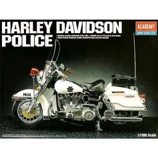 HARLEY DAVIDSON Classic Police Motor 1/10 MA002 Academy