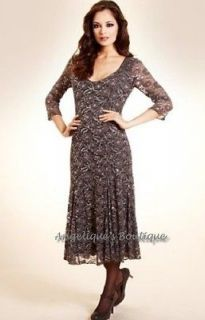 PER UNA SIZE 10 TO 20 M & L GREY FLORAL LACE SEQUIN EMBELLISHED PARTY