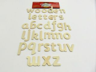 Wooden Letters Alphabet A Z Letter Lower Case 3cm Cardboard Letters 60