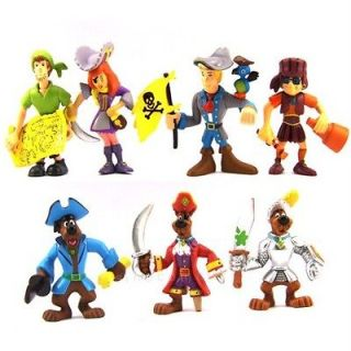 LOT 7 Pcs Pirates Scooby Doo SHAGGY DAPHNE FRED VELMA DOG Figures M42