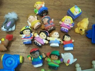 Fisher Price Little People Lot of figures Chickens dog caveman robin