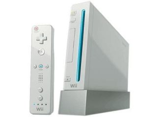 nintendo wii white console ntsc w games and guitar time