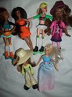 McDonalds Girl Figures Toys Skates Barbie Dolls Cake Toppers African