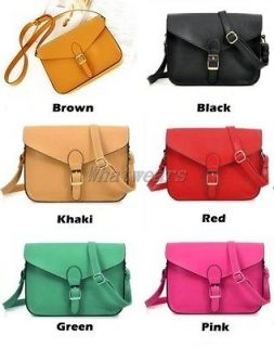 JJ Fashion Womens PU Leather Messenger Crossbody Shoulder Bag Tote