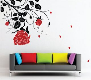large rose flower vinyl art wall stickers wall decals more options