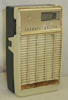 Vintage Channel Master 6 Transistor Pocket Radio 6531 Japan Black