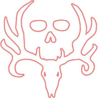 BONE COLLECTOR DEER SKULL STICKER DECAL . HUNTING TURKEY BIRD 10 x