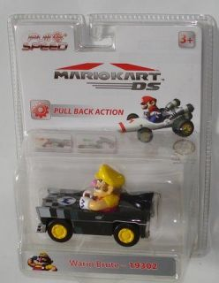 NIB Mario Kart DS Pull & Speed 4 Race Car   Wario Brute   Model 19302
