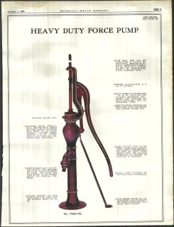 1925 ad heavy duty water force pumps wind mill top