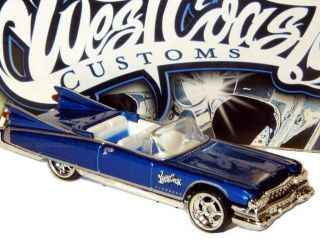 hot wheels west coast customs series 59 cadillac blue time