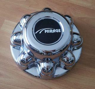 Cargo RV Travel 8 Lug Wheel CHROME TRAILER Center Cap Mirage Logo