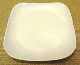 ~ 222 Fifth ~ Rococo Black and White ~ Square 10 3/4 Dinner Plate