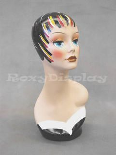 Newly listed Mannequin Head Bust Wig Hat Jewelry Display #VF004