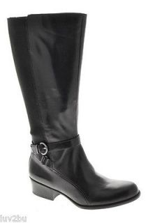Naturalizer Array Womens Wide Shaft Knee High Boots Black Medium