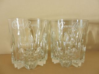pair of crown royal canadian whiskey glasses set of two