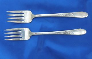 Wm Rogers & Son AA IS International Silver Forks Silverplate 6 1/2