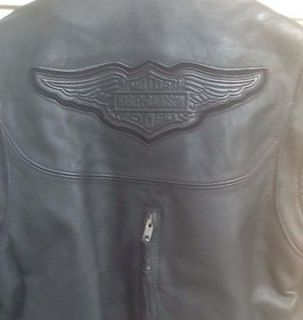 Harley Davidson Leather Jacket Vest Willie G Women Small USA MADE