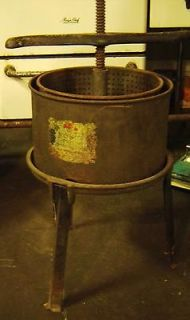 schriver juicy fruit 3 gallon wine cider press 1900 antique