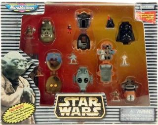 1996   MICRO MACHINES STAR WARS MINIATURE HEADS W/ NEW DARTH VADER
