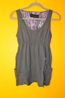New Fox Racing Girl tank top grey dress shirt womens size XL Sale