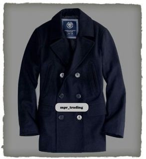 NWT American Eagle AE Mens Wool Navy Blue Peacoat Pea Coat New S M L