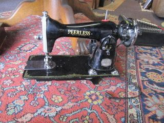 antique peerless japan deluxe precision sewing machine time left $