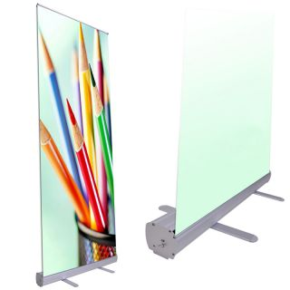 Professional 33x79 Retractable Roll Up Banner Stand Trade Show