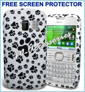 PAWS PRINT FOOTPRINT SILICONE/GEL CASE COVER SKIN FOR NOKIA ASHA 302