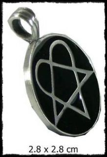 n132 heartagram love magic rocker pendant necklace location thailand