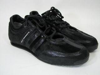 Yohji Yamamoto Adidas Y 3 Boxing Low top Shoe Sneaker Black Pony Skin