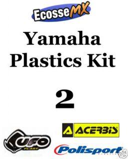 ufo yamaha plastics kit 2 motocross yz85 02 09 white