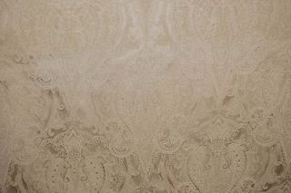 Duralee Antique Gold Paisley Damask Drapery Upholstery Fabric